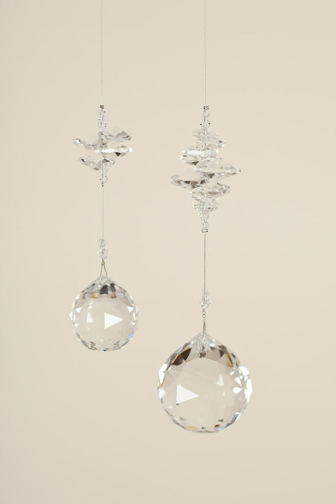 CLEAR CRYSTAL :<br>  Ball Shaped Sun Catcher