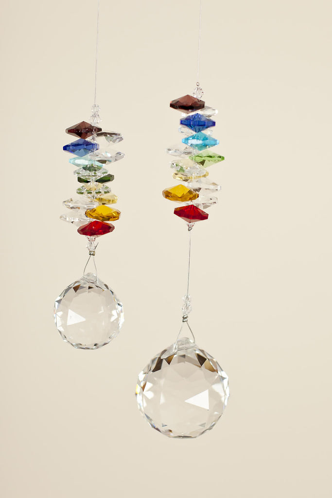 CHAKRA CRYSTAL :  <br>  Ball Shaped Sun Catcher