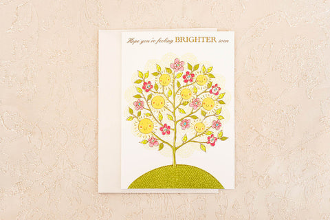 """Hope You're Feeling BRIGHTER Soon"" Greeting Card"
