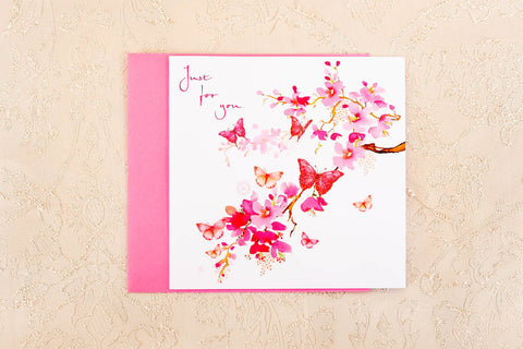 """Just for you"" Greeting Card"