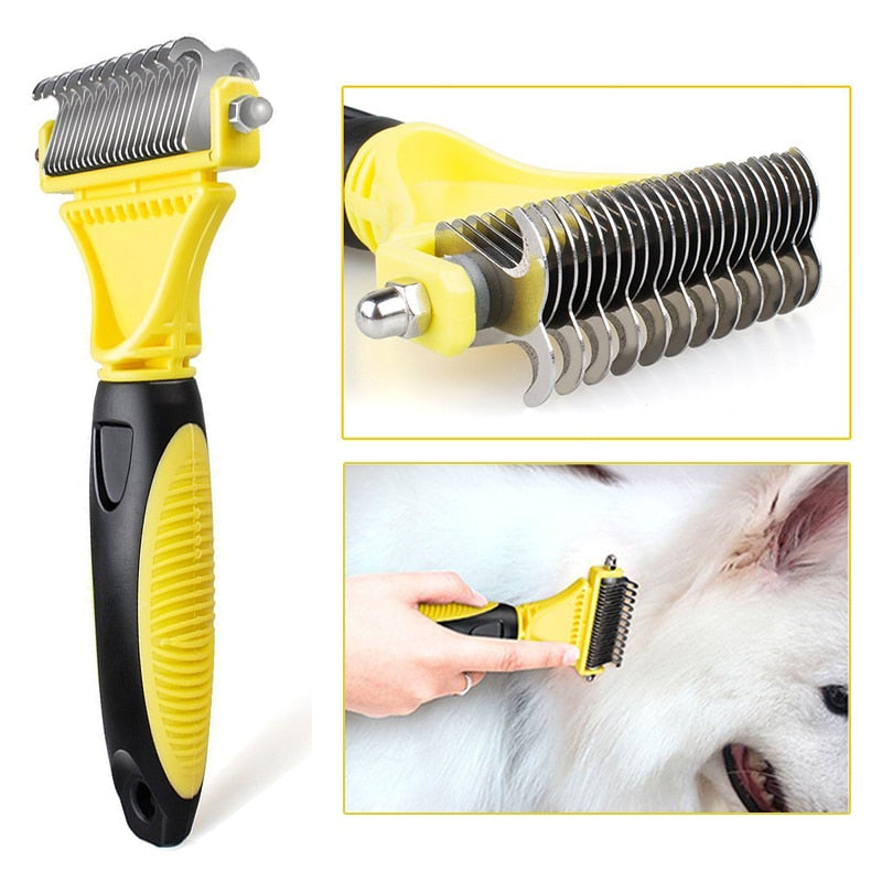 Stainless Double-sided Pet Cat Dog Comb