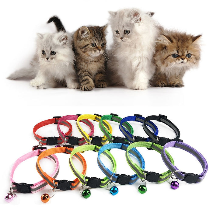 Adjustable 1.0 Nylon Dog Collars with Bell