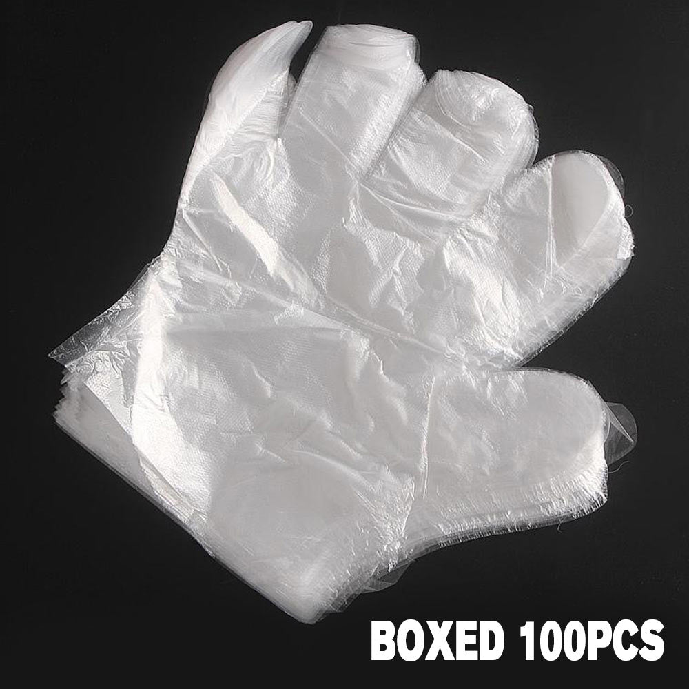 100pcs / pack Disposable gloves plastic