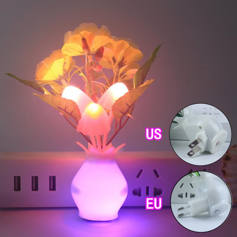 smart Light Sensor Romantic flower Mushroom lamp