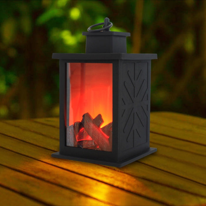 portable Simulated Fireplace Candle Holder Flame Light