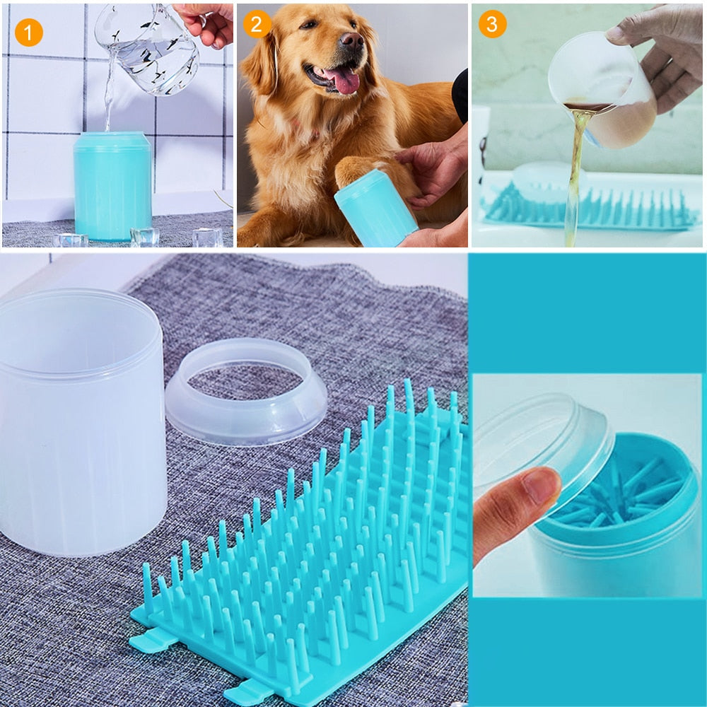 Pet Cat Dog Foot Clean Cup for Dogs Cats