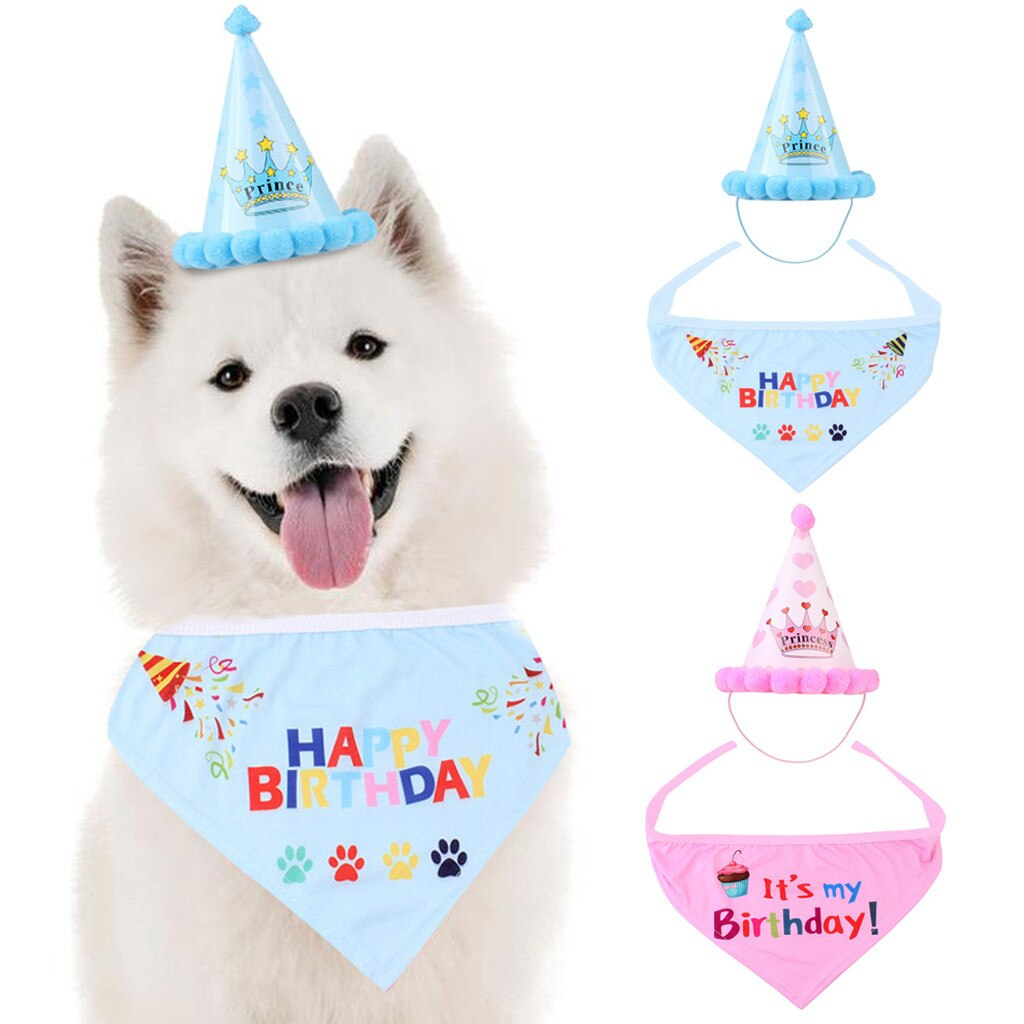 Pet cat and dog birthday headdress