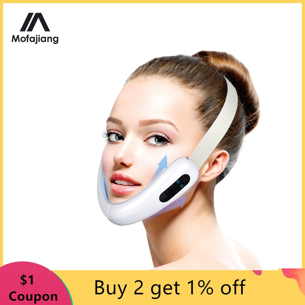 LED Photon Light Therapy V Face Massager