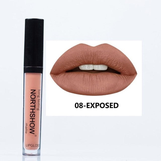 24 Glitter Colors New Waterproof Matte Nude Lipstick