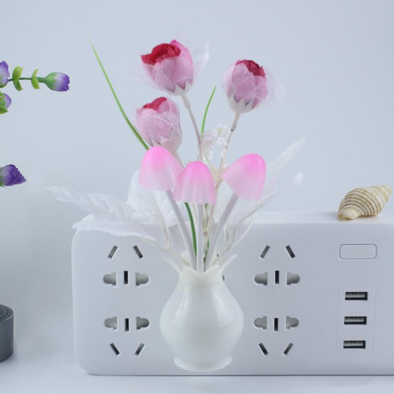 Romantic Colorful Potted Night Light