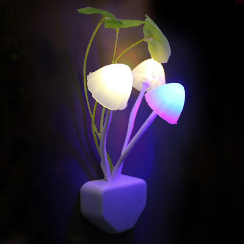 Colorful Sensor LED Mushroom Night Light Lamp