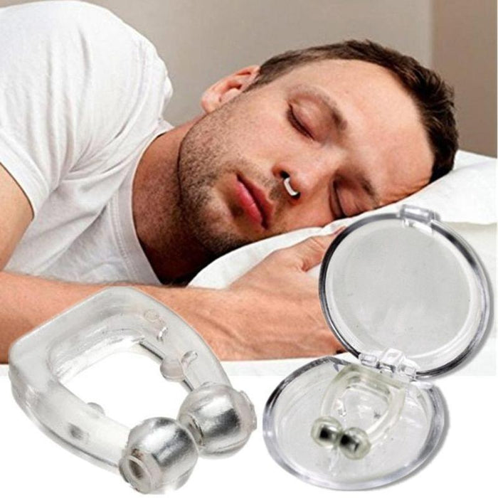 2pcs Silicone Anti Snore Magnet