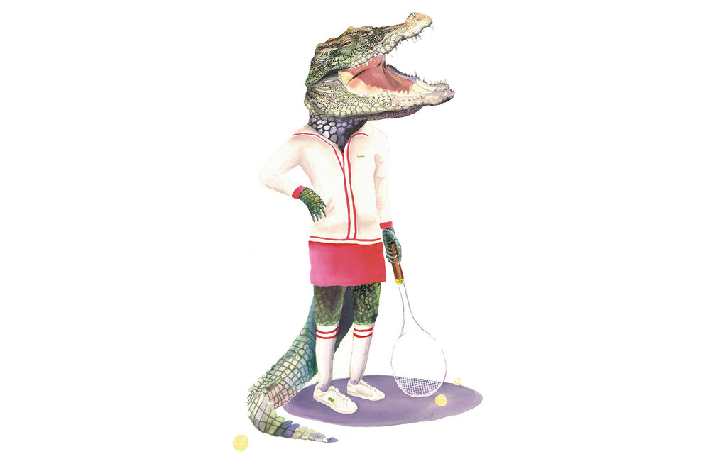 #throwback Friday: LACOSTE tennis playing croc T-shirt