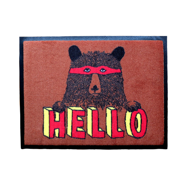 'Hello Bear' Welcome Door Mat