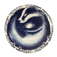 Sleeping Badger Round Tray