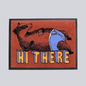'Hi there Badger' Welcome Door Mat