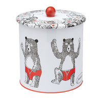 Bear Biscuit Barrel Tin
