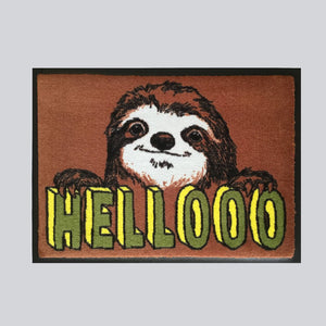 'Hellooo Sloth' Welcome Door Mat