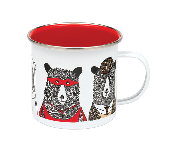 Bear Family Enamel Mug