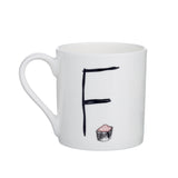 F - Alphabet of Snacking Animals Mug