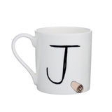 J - Alphabet of Snacking Animals Mug