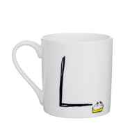 L - Alphabet of Snacking Animals Mug