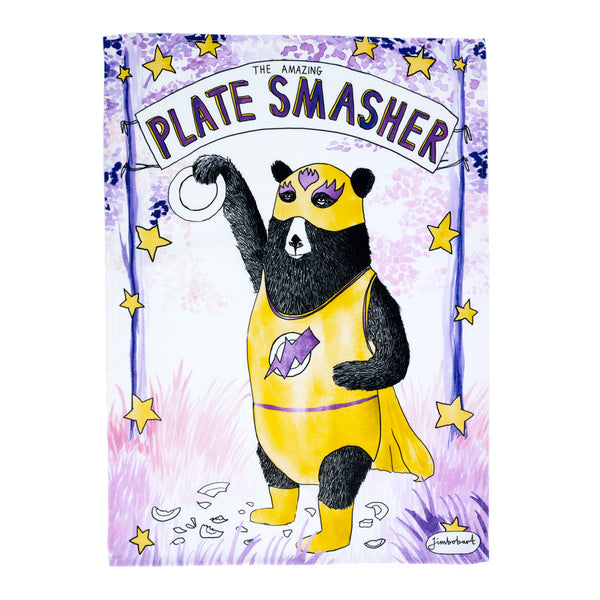 Tea towel - Amazing plate smasher