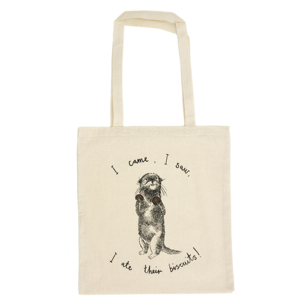 Biscuit Eating Otter Tote Bag