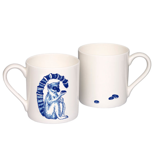 Lemur Willow pattern mug