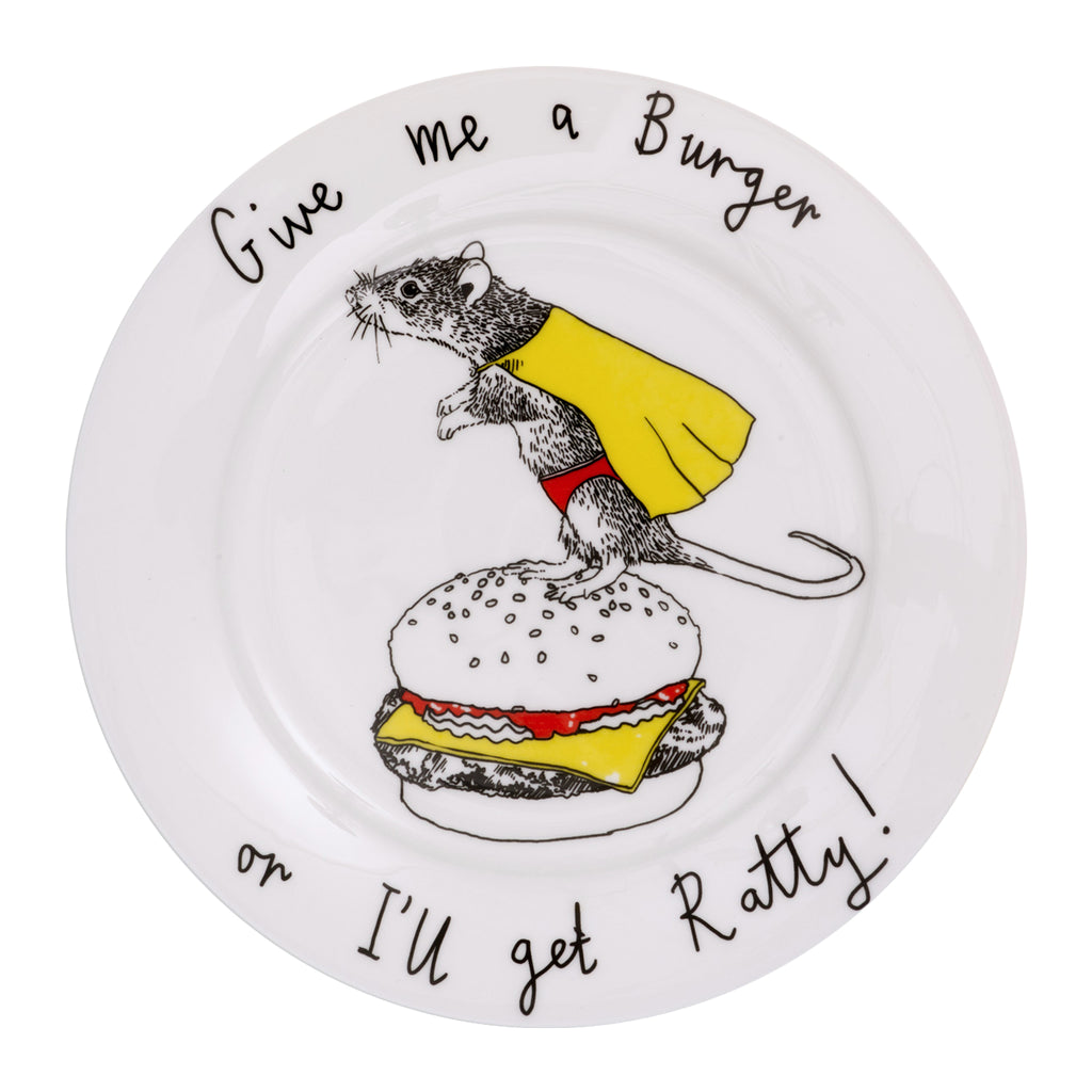 'Give me a Burger' Side Plate