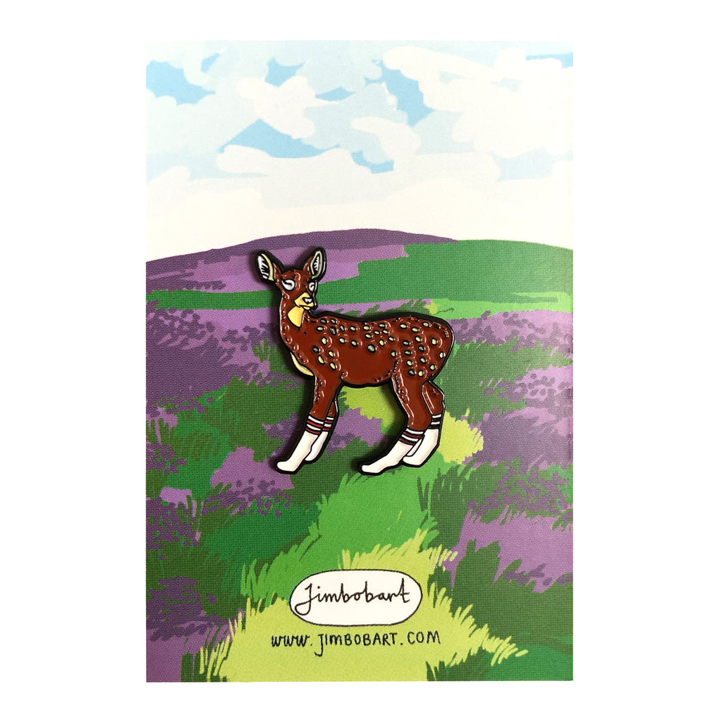 Deer enamel pin