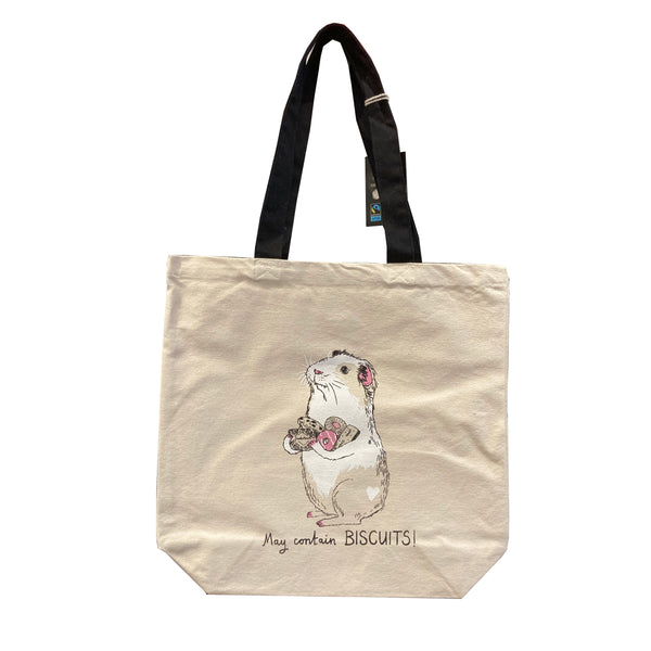 Guinea Pig Screen Printed Fairtrade Cotton Shopper Bag