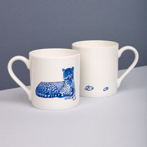Leopard Willow pattern mug