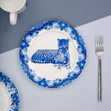 Leopard Willow pattern side plate