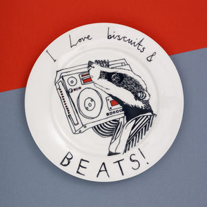 'Biscuits and Beats' Side Plate