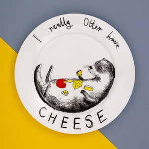 'Otter have cheese' Side Plate
