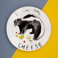 'I Love Stinky Cheese' Side Plate