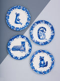 Raccoon Willow pattern side plate