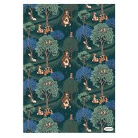 Woodland animals Wrap - 5 Sheets of Wrapping Paper