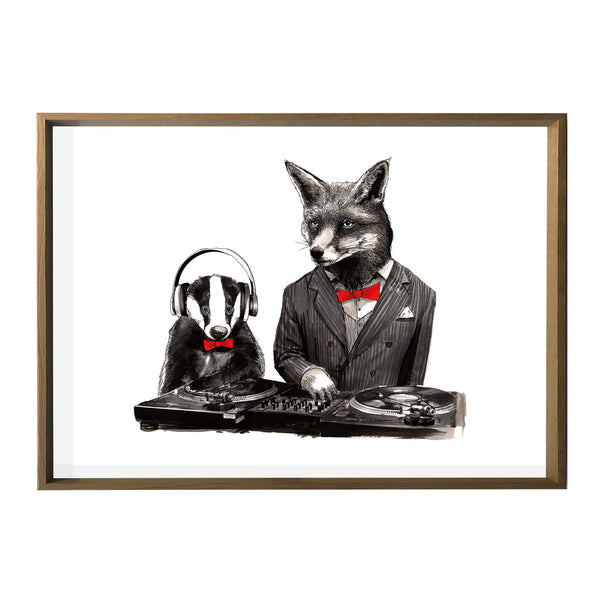 DJ Fox & Badger Print