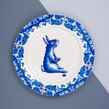 Rabbit Willow pattern side plate