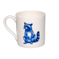 Raccoon Willow pattern mug