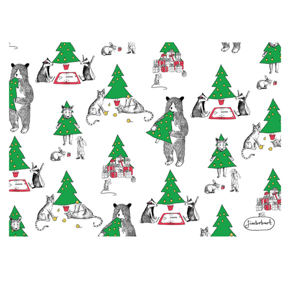 Jimbob Christmas Wrap - 5 Sheets of Wrapping Paper