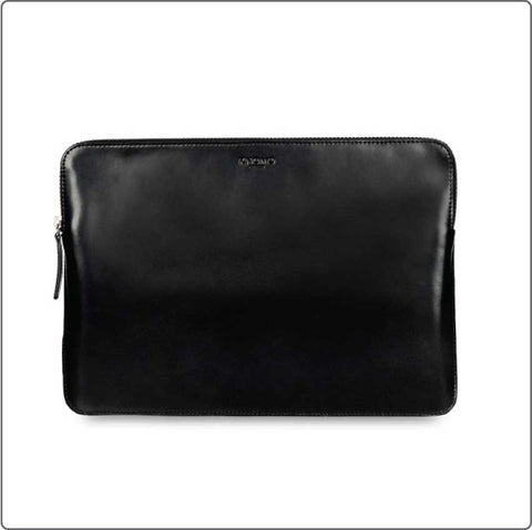 Soho laptop sleeve i læder 13''-15'' - Sort