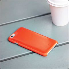 Knomo iPhone Leather Snap-On Cover - Koral