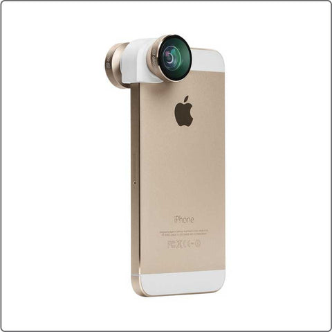 Olloclip 4-in-1 Lens for iPhone 5/5S - Gold/White