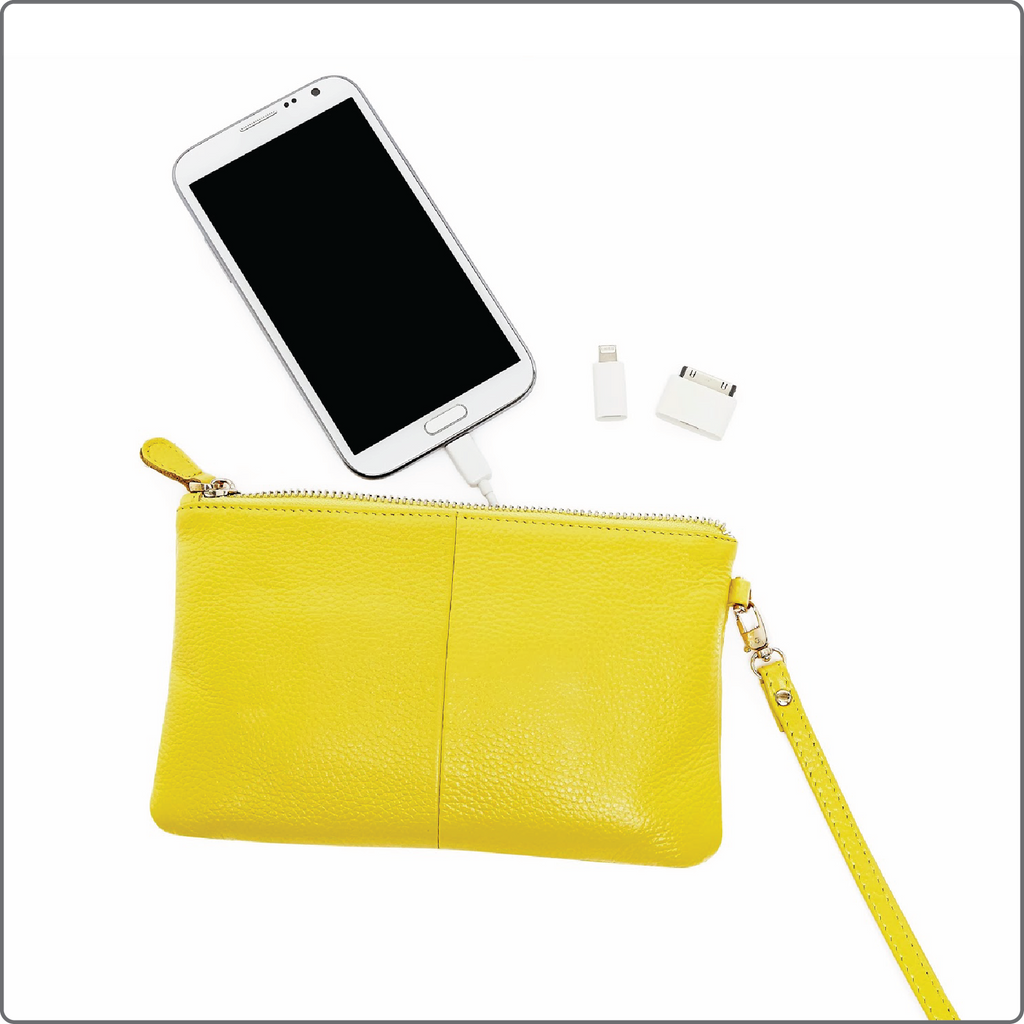 Mighty Purse gul oplader din smartphone