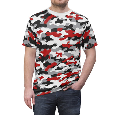 Camouflage T-Shirt Red-R1 (Unisex) by Acoolawear