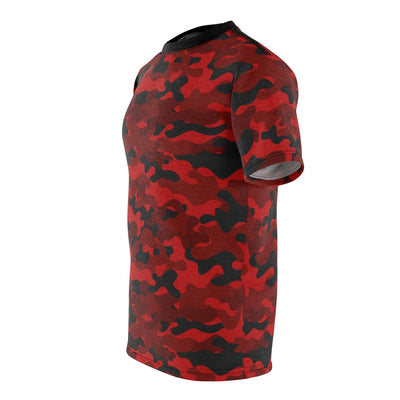 Camouflage T-Shirt Red-RB5 (Unisex) by Acoolawear
