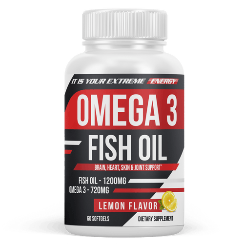 Omega 3 Fish Oil Triple Strength, Burpless, Non-GMO